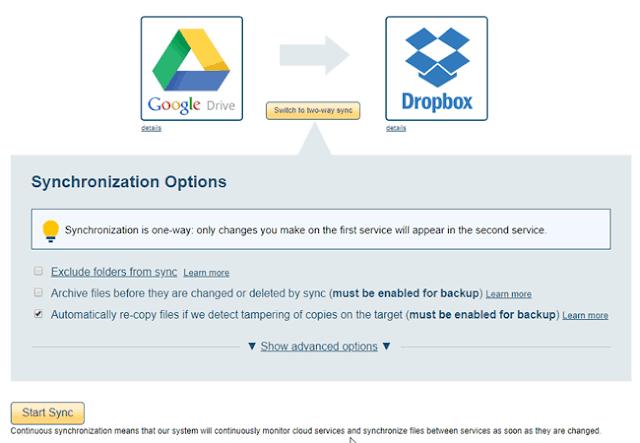 Transfer File dari Google Drive ke Dropbox