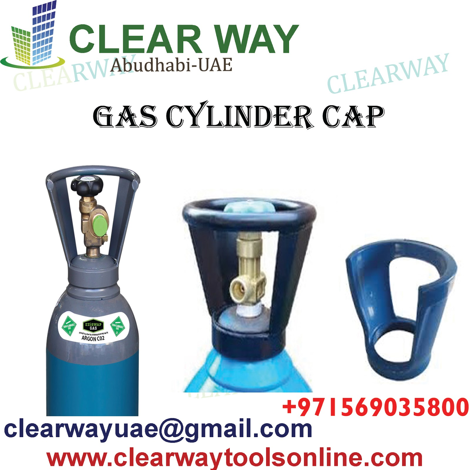 CLEARWAY: GAS CYLINDER SAFETY CAP DEALER IN MUSSAFAH , ABUDHABI ,UAE