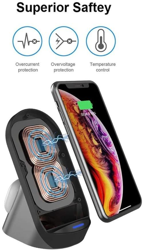 SHARE SUNSHINE Wireless Fast Dual Charging Station