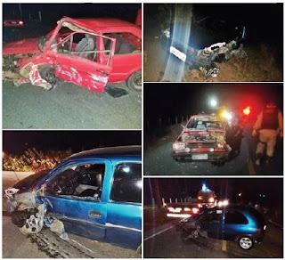 Policial é atropelado em acidente grave que envolveu 3 carros na PB 177 em Soledade