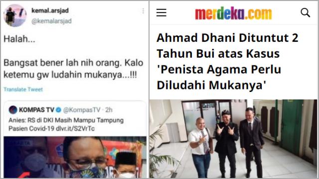 Kemal Arsjad Minta Maaf Soal Ludahi Anies, Netizen Ingatkan Ahmad Dhani Dipenjara Kasus Serupa