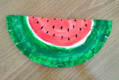 Watermelon craft for kids #3