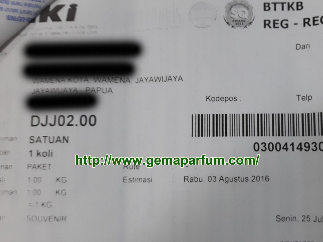pengiriman parfum ke Papua