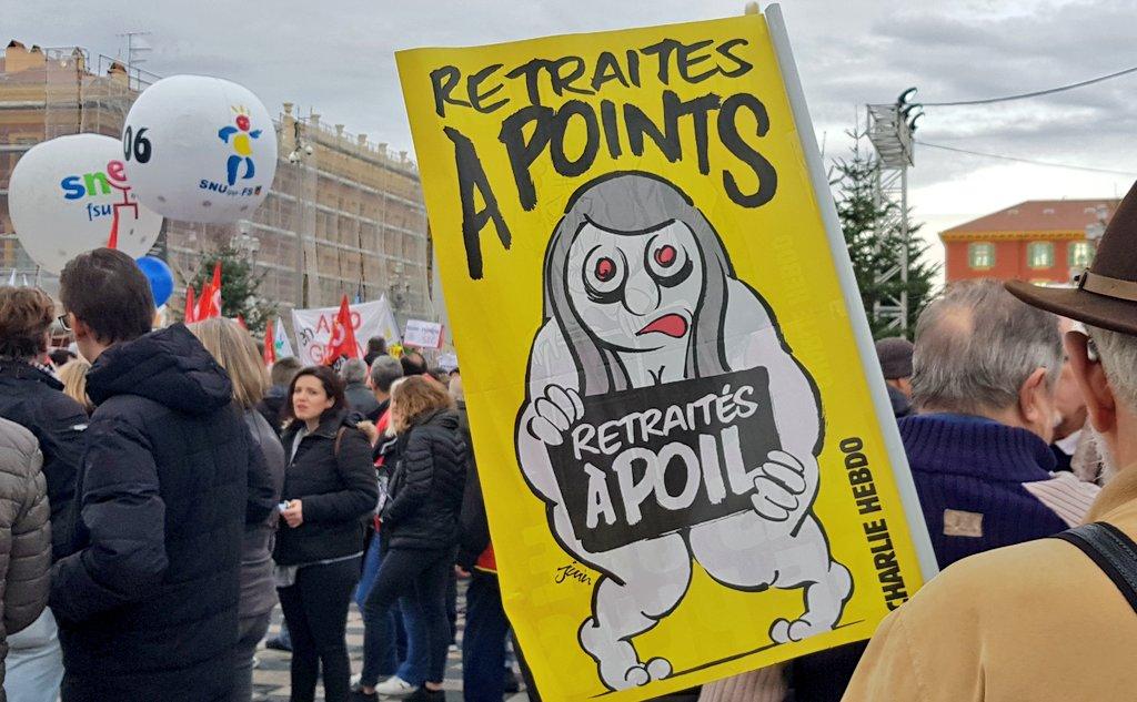 Manifestation à Nice le 5 décembre 2019. Photo : Clément Avarguès pour Rivieractu
