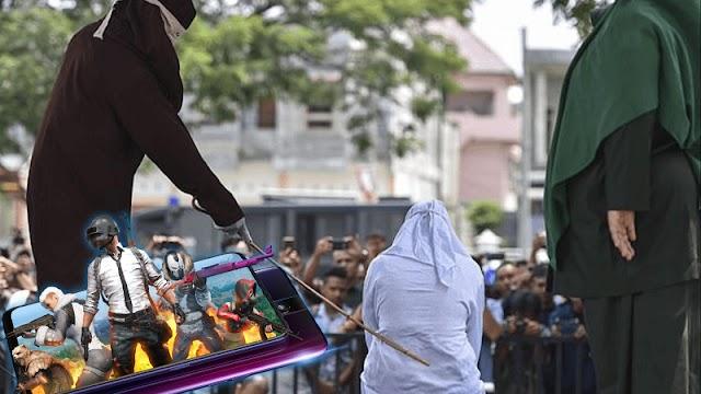 Hukum Cambuk bagi Pemain PUBG di Aceh
