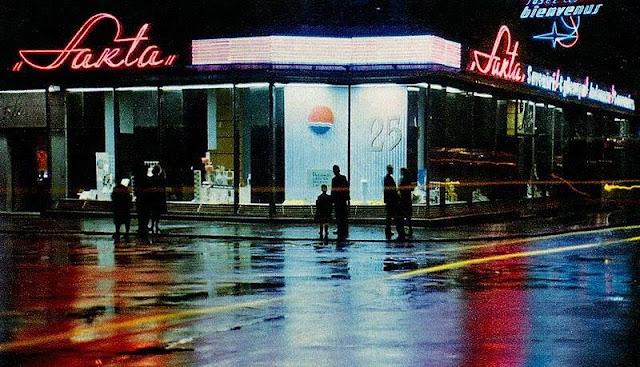 1965 год. Рига. Угол улиц Ленина (Бривибас) и Меркеля. Sakta