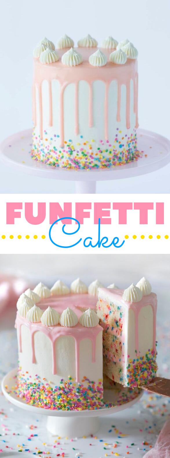 Funfetti Cake #desserts #birthdaycake