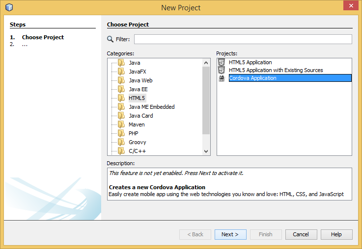 How to install Cordova in Netbeans ??