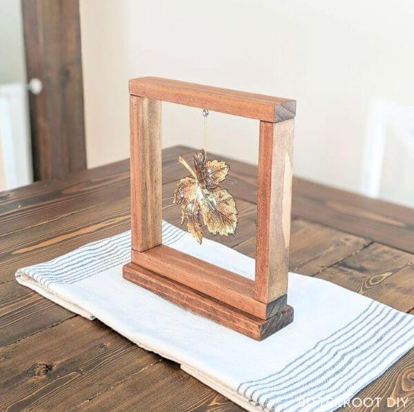 framed leaf decor