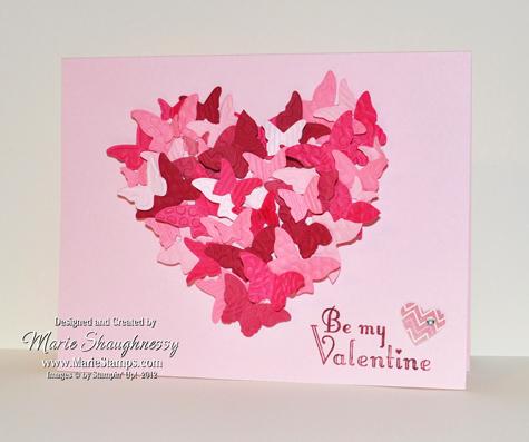 Stamping Inspiration: HEART A FLUTTER VALENTINE CARD