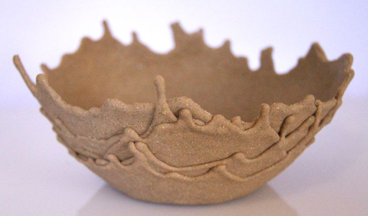 Diseño de tazón con arena de mar