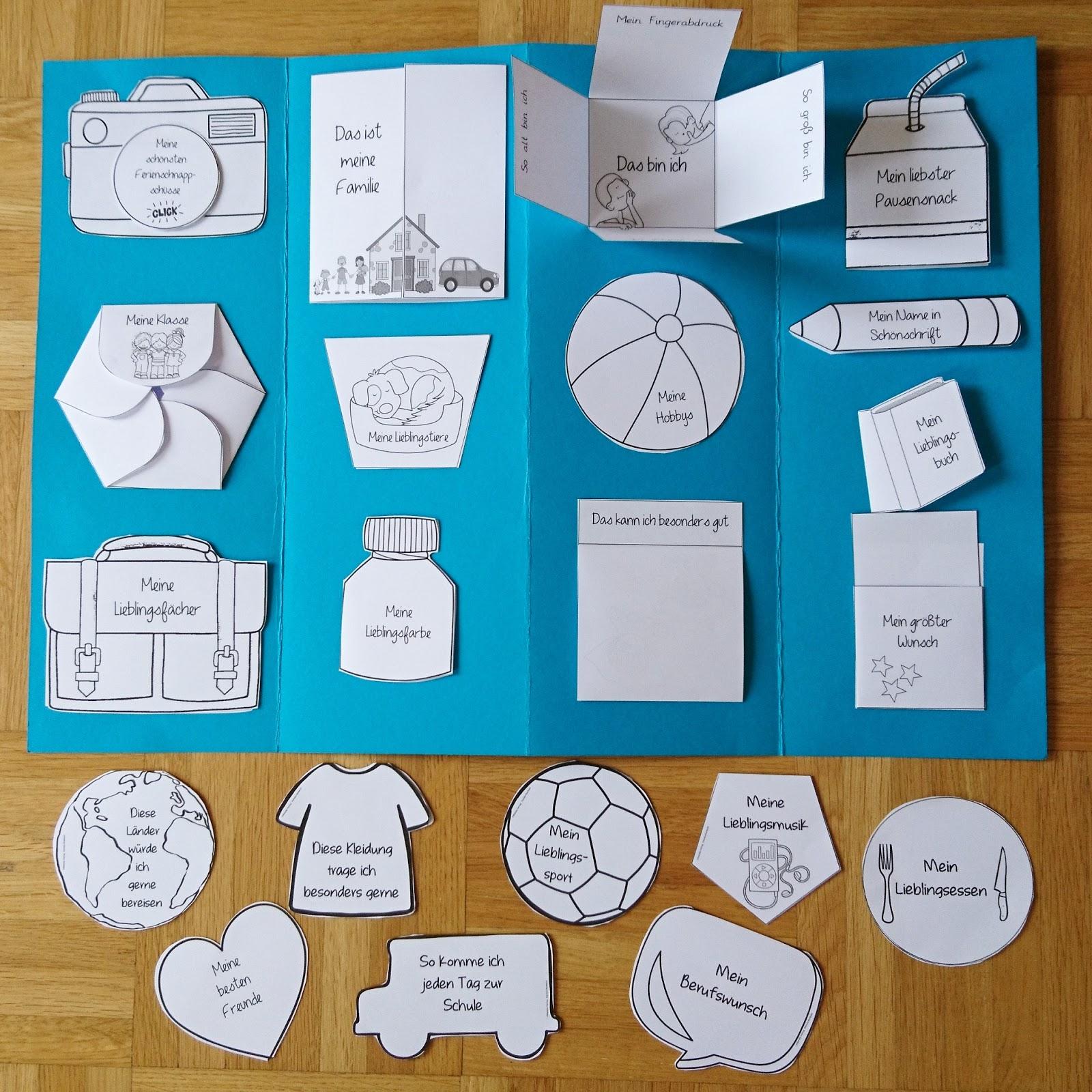 Ideenreise - Blog  Alles über mich (Vorlagen für ein Lapbook)