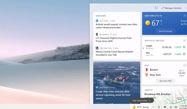 كيفية تعطيل أداة الأخبار والاهتمامات على Windows 10
