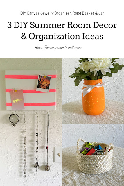 3 DIY Summer Room Decor & Organization Ideas