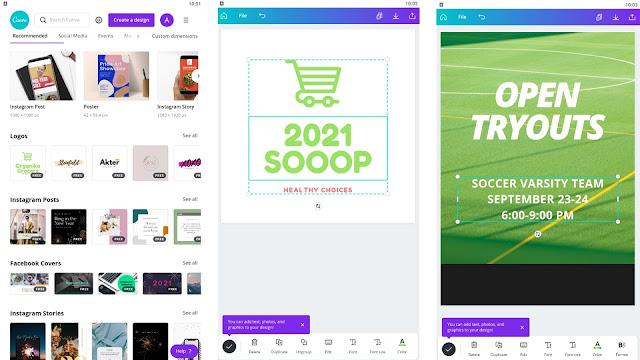 تحميل تطبيق canva لتميم و تعديل الصور و انشاء الشعارات - تطبيق جرافيك