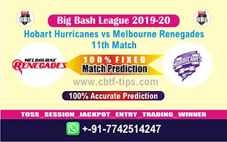 Who will win Today BBL T20, 11th Match Renegades vs Hobart - Cricfrog
