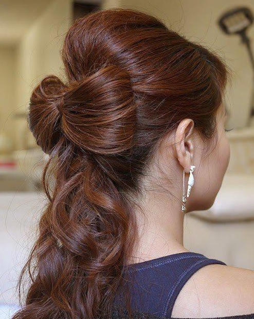 simple stylish hairstyles bridesmaids