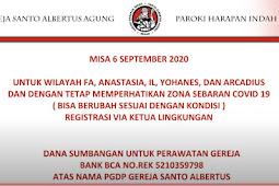 Misa Minggu 6 September 2020