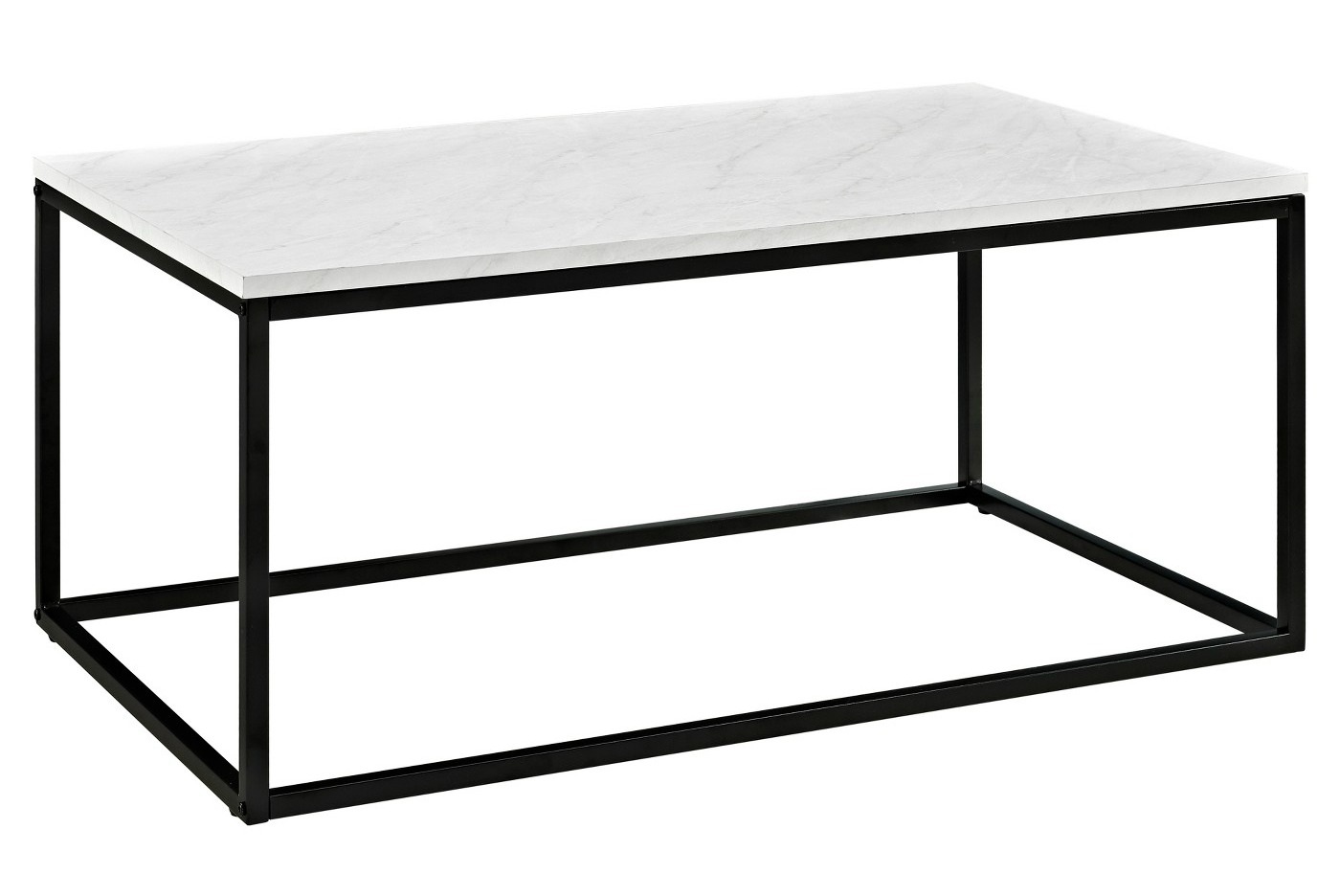 Faux marble black base coffee table