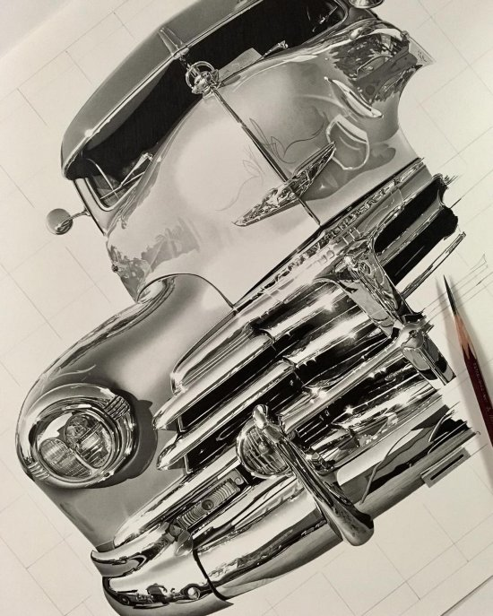 Kohei Ohmori arte ilustrações desenhos hiper-realistas a lápis preto e branco