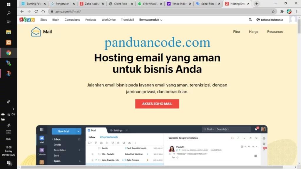 email hosting free zoho