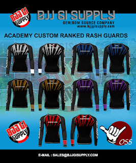 -Academy Ranked Rash Guards -Moisture wicking material -Unique and exclusive designs -Polyester-spandex fabric blend 220 gsm 80% Polyester, 20% -Sublimated printing ( Print your Academy logo ) -Durable and comfortable