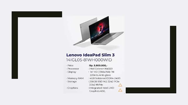 Laptop Lenovo IdeaPad Slim 3