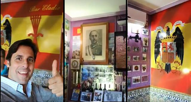 Fran Rivera incendia las redes tras visitar un bar franquista