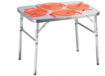 Tavolo da campeggio in alluminio per due persone