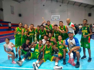 INEM Cartagena Colombia Baloncesto Juvenil Intercolegiado 2019 Campeones SUPERATE