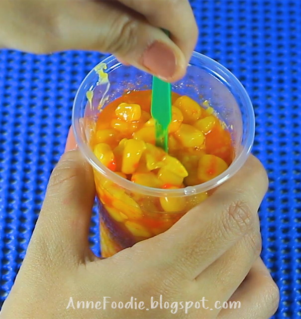 This is how to eat Pinoy Sweet Cheese Corn.
