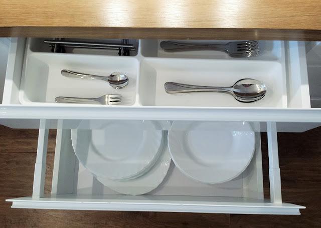 organizer szuflad w kuchni