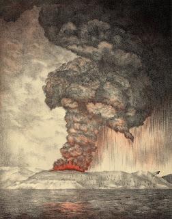 Ilustrasi Letusan Gunung Krakatau