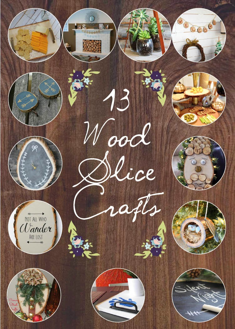 November diy challenge painted wood slice hooks little for Crafts for 14 month old