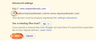 Custom Domain in blogger