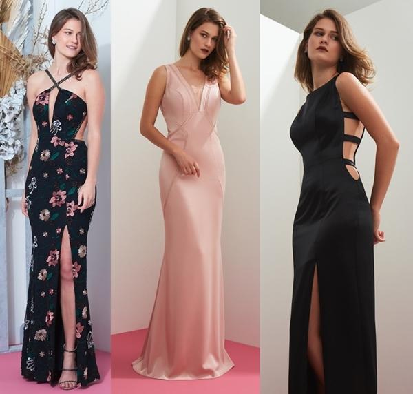 vestido longo para convidada