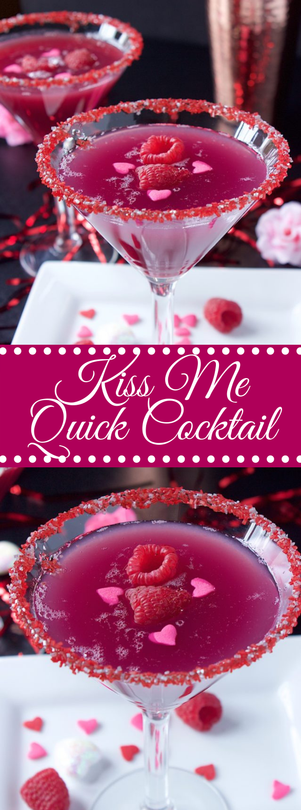KISS ME QUICK COCKTAIL #drinks #valentineday
