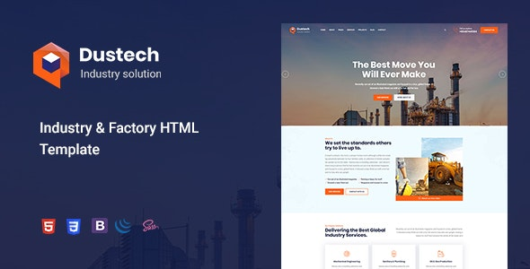 Industry & Factory Website Template