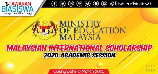 Malaysian International Scholarship (MIS) 2020