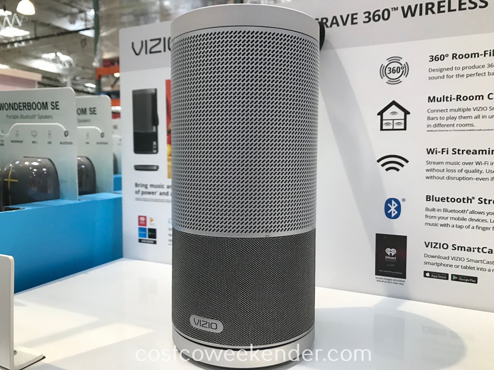 Easily stream music all around your home with the Vizio Crave 360 SmartCast Speaker
