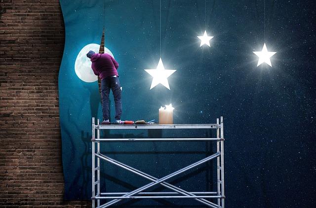 Ilustrasi Gambar Malam Yang Indah Penuh Bintang