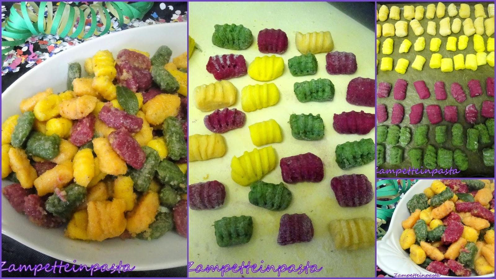 Gnocchi colorati - Ricetta di Carnevale