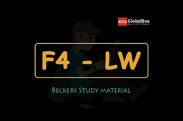 F4 - LW (ENG) | BECKERS Study Text