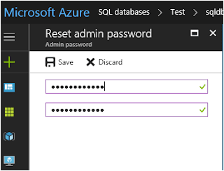Reset Passwords for Azure SQL Database