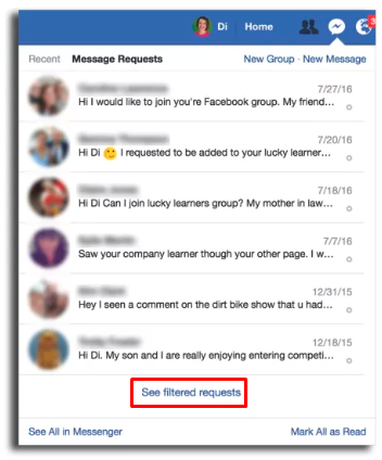 Other Messages Facebook<br/>