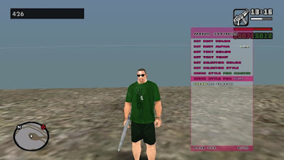 GTA V Cheat Menu For GTA San Andreas For Pc