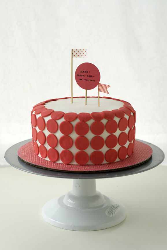 Liz Ordered This Super Cute Red And White Themed Fondant Cake For Her Husband Marks 50th Birthday 50 Sweet Simple Vanilla