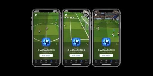 لعبة شاروا سوكر هي لعبة كرة قدم ثلاثية الابعاد ومتعددة اللاعبين