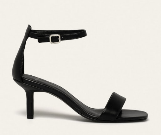 Vagabond - Sandale de piele negre cu toc mediu