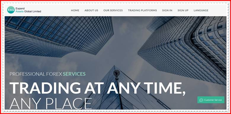 Мошеннический сайт ea1800.com – Отзывы, развод, мошенники! Expand assets Global Limited
